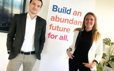 Evelin and Christian selected participants in the Exponential Talent Program